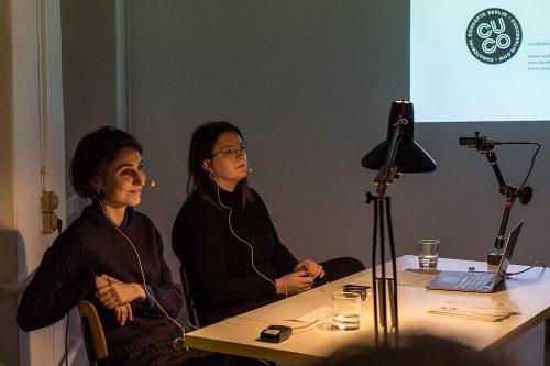 Annika Turkowski and Katherina Perlongo of curators collective COCU berlin