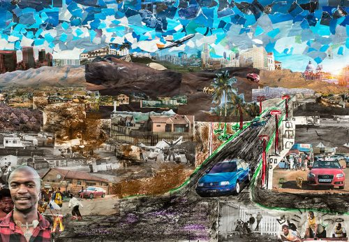 Town to Kasi, group collage by the Nice Magazine from Katlehong, 2018
