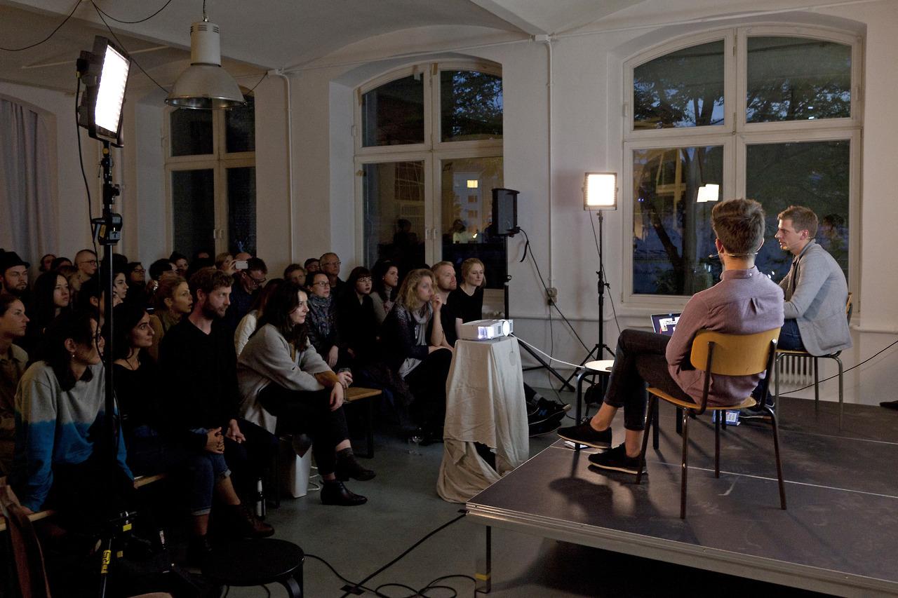 Peter Puklus ans Simon Karlstetter at FOTOTREFF Special #1 in Berlin, September 2017